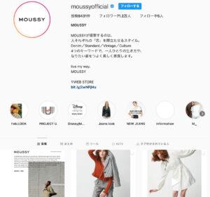 MOUSSY(マウジー)_インスタグラムのアカウント