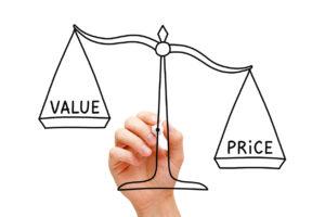 価値と金額・料金のバランス(価格競争)