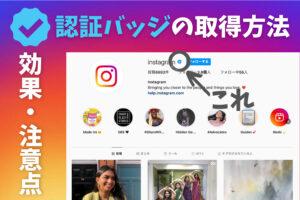 Instagramの認証バッジを取得する方法!効果や注意点とは?